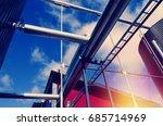 industrial zone  steel... | Shutterstock . vector #685714969