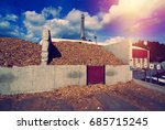 bio power plant with storage of ... | Shutterstock . vector #685715245