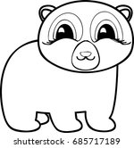 bear coloring page. restore the ... | Shutterstock . vector #685717189