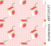 seamless pattern with cute... | Shutterstock .eps vector #685719157