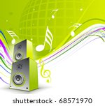 abstract musical theme with... | Shutterstock .eps vector #68571970