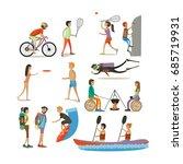 set of characters  summer... | Shutterstock . vector #685719931