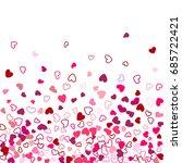 heart shape outline love... | Shutterstock .eps vector #685722421