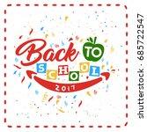 back to school vector... | Shutterstock .eps vector #685722547