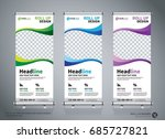 roll up banner design template  ... | Shutterstock .eps vector #685727821