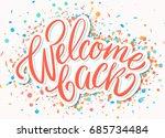 welcome back banner. | Shutterstock .eps vector #685734484
