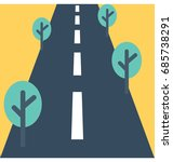 road vector icon  | Shutterstock .eps vector #685738291