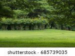 trees in public park | Shutterstock . vector #685739035