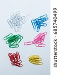 many colored clips are folded... | Shutterstock . vector #685740499