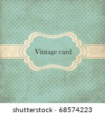 Stock vector polka dot design blue vintage frame 68574223