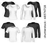 vector. men and women shirt... | Shutterstock .eps vector #68574718