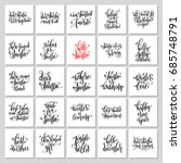 25 hand lettering poster set to ... | Shutterstock .eps vector #685748791