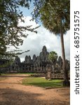 Small photo of View of Bayon in Seam Ream, Cambodia.