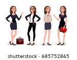 business womens dialogue....   Shutterstock .eps vector #685752865