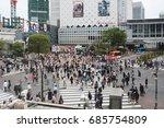 tokyo  japan   arpil 18  2017 ... | Shutterstock . vector #685754809