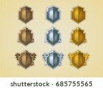 bronze  silver  gold shields. ...