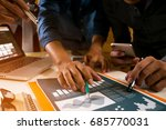 team business plans working new ... | Shutterstock . vector #685770031