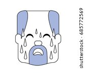 man with heart attack face... | Shutterstock .eps vector #685772569