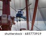 ship based helicopter ... | Shutterstock . vector #685773919