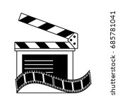 clapperboard film tape icon... | Shutterstock .eps vector #685781041