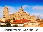 new cathedral of salamanca ... | Shutterstock . vector #685785259