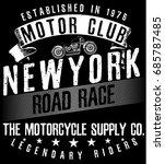 tee vintage motorbike race  ... | Shutterstock .eps vector #685787485