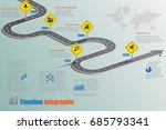 business road map timeline... | Shutterstock .eps vector #685793341