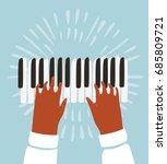 vector funny funky illustration ...   Shutterstock .eps vector #685809721