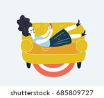 cartoon funny illustration of... | Shutterstock .eps vector #685809727