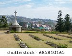 view from kohima war cemetery ... | Shutterstock . vector #685810165