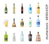 alcohol drinks beverages... | Shutterstock .eps vector #685814329