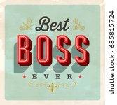vintage style postcard   best...   Shutterstock .eps vector #685815724