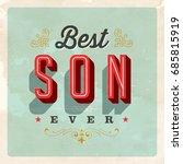 vintage style postcard   best... | Shutterstock .eps vector #685815919