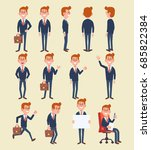 set of business man in... | Shutterstock .eps vector #685822384