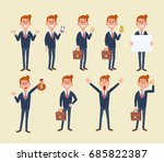 set of business man in... | Shutterstock .eps vector #685822387