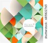 cut paper circles  mosaic mix... | Shutterstock . vector #685822765