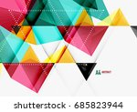 triangular low poly a4 size... | Shutterstock . vector #685823944
