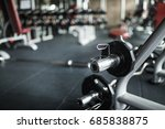 heavy weights barbell and... | Shutterstock . vector #685838875