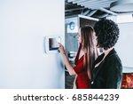 caucasian beautiful woman in... | Shutterstock . vector #685844239