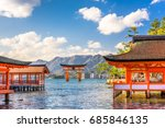 Stock photo miyajima hiroshima japan floating shrine 685846135