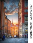 stockholm is the capital and... | Shutterstock . vector #685849657