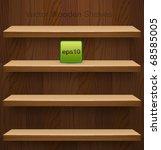 vector wooden shelves for your... | Shutterstock .eps vector #68585005