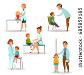 colored and isolated kids visit ... | Shutterstock .eps vector #685859185