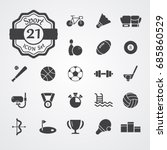 sport icon set flat vector... | Shutterstock .eps vector #685860529