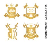 coats of arms   shields with... | Shutterstock .eps vector #685866445