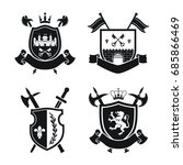 coats of arms   shields with... | Shutterstock .eps vector #685866469