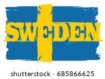 flag of sweden  brush stroke... | Shutterstock .eps vector #685866625