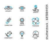 modern thin line icon and... | Shutterstock .eps vector #685884454