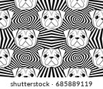 seamless pattern with dogs.... | Shutterstock .eps vector #685889119