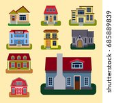 historical city modern world... | Shutterstock .eps vector #685889839